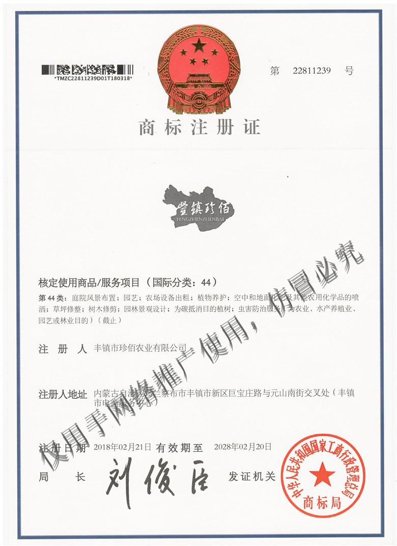 商标注册证(一)